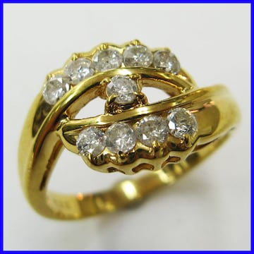 ★18金製 ダイヤモンド リング