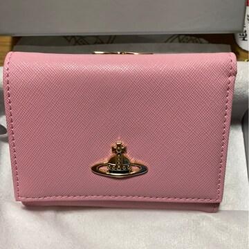 ヴィヴィアンウエストウッド 三つ折り財布 コンパクト ピンク☆