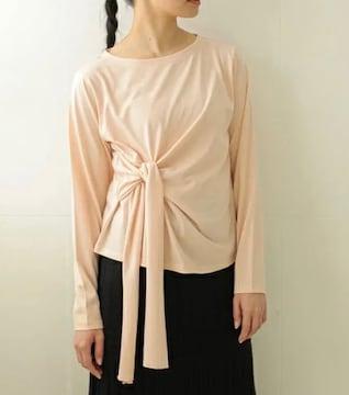 E hyphen world gallery サイド結びロングTシャツ ピンク