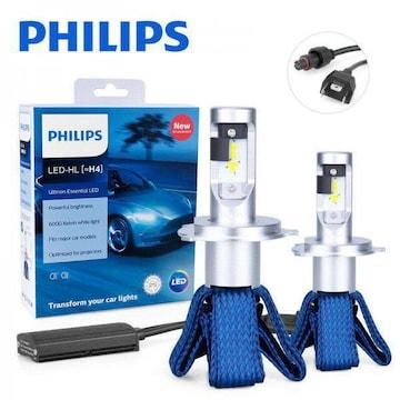 フィリップス PHILIPS H4 小型 ヘッドライト LED 6000K