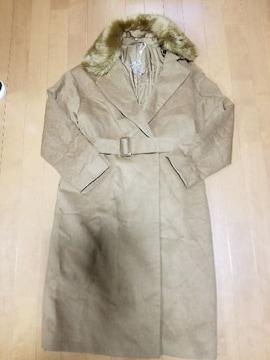 ◆GU◆ファー付ロングコート◆