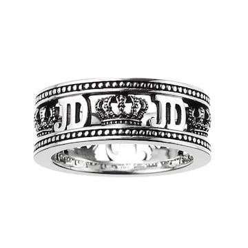 新品◆JUSTIN DAVIS◆FAME RING◆9号◆クラウンリング◆クロム