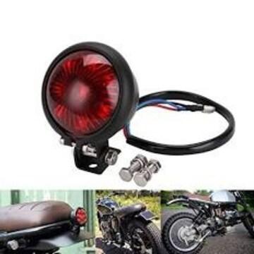 red YIBO オートバイ赤12V LED調整可能なカフェレーサースタイル