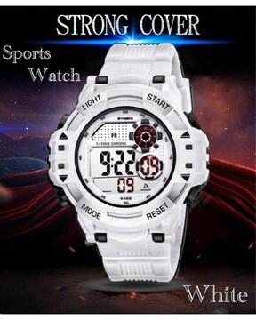 スポーツ腕時計 LED デジタル 腕時計 ミリタリー ホワイト