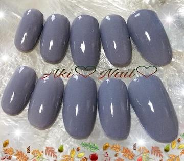 ジェルネイルチップ☆付け爪〜グレー☆ワンカラー☆カラー変更可