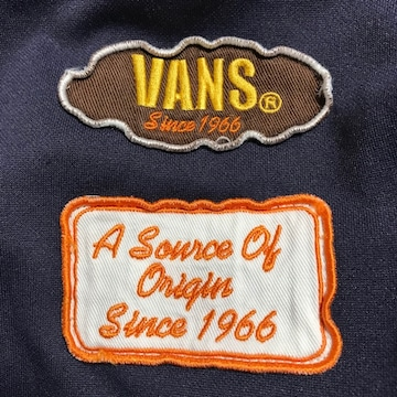VANS ヴァンズ ジャージ 上着 ツートンカラー ネイビー ブラウン XLサイズ