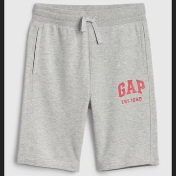 新品 GAP☆130 ロゴ ハーフパンツ グレー ギャップ
