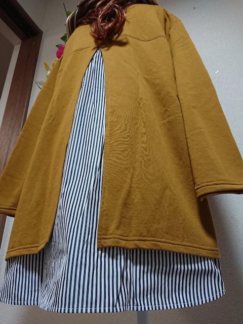 ★新品タグ10L★異素材切り替えチュニ¥5269 < 女性ファッションの