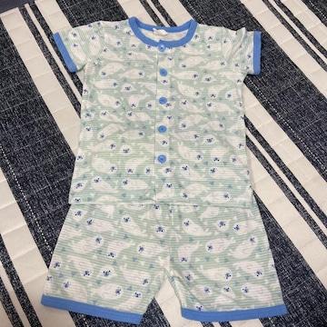 enfant pur アザラシ柄パジャマ 半袖パジャマ上下セット 110cm