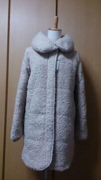 アズ♪新品♪ボリューム衿中綿コート♪リブ付♪モコモコ♪ワンピ