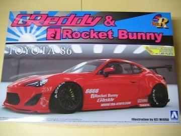 アオシマ 1/24 TOYOTA 86 '12 GREDDY&ROCKET BUNNY ENKEI Ver.