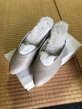 新品 chumchum ファーサンダル 靴 レディース M 23 グレー