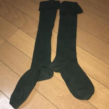 ハイソックス 緑色