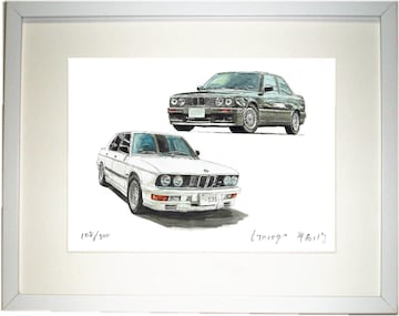 GC-1316 BMW325/M535限定版画サイン額装作家平右ヱ門