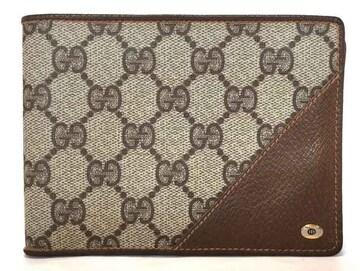 美品正規グッチオールドグッチ財布二つ折りGGプラス写真