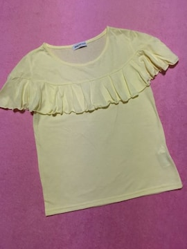 ブラウニー BROWNY 胸元フリル付き半袖Tシャツ カットソー