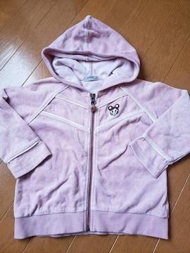 ☆新品同様☆pappパプ☆薄ピンクパーカー☆100