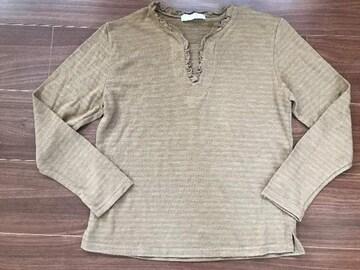日本製 毛混カットソー 長袖