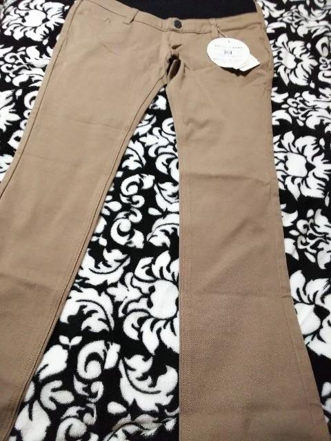 新品 あったか裏起毛ストレッチマタニティパンツ(///ω///)♪L < 女性ファッションの