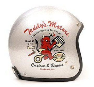 テッドマン/ヘルメット/シルバー/TMH-10S/エフ商会/カミナリモータース/ジェットヘル