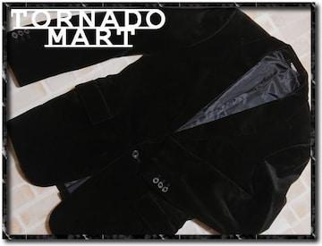 トルネードマート ベロアジャケット 黒★やや難