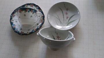 KENZOコーヒーカップとスープ皿焼き物おしゃれゆうパック60