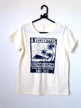 ハワイアン ヤシの木 ライトイエロー Tシャツ Mサイズ
