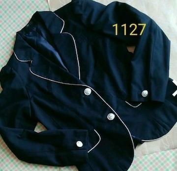1127美品キッズかっこいいフォーマルジャケット黒165