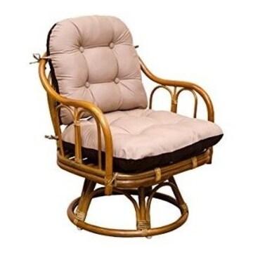 ラタン リバーシブル回転座椅子 IM-18HN ハニー