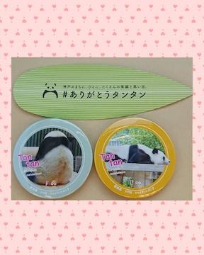 神戸王子動物園パンダ「旦旦」缶マグネット