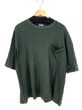 COMOLI(コモリ)ポケットTシャツクルーネックTシャツ