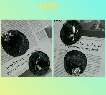 H59新品*ハンドメイド魔女のようなミニチュアドーとんがり帽子