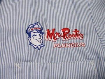 アメリカ古着 CINTAS MR ROOTER ワークシャツ USA−S