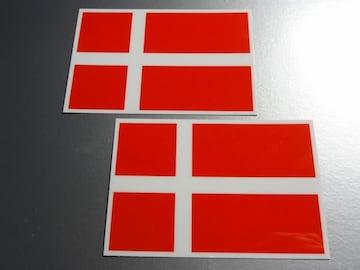 ■デンマーク国旗ステッカー2枚セット即買■スーツケースなどに