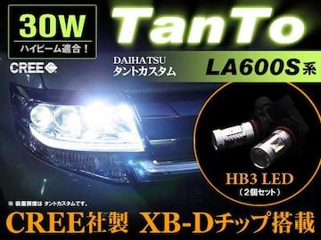 TANTO タントカスタム LA600S ハイビーム CREE LED 30W効率 HB