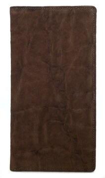 新品同様エレファント象革二つ折り長財布札入エレファントレザ