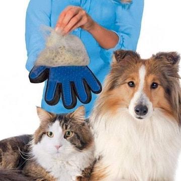 2個セットペット 抜け毛 処理 グルーミング グローブ 右手用手袋