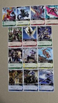仮面ライダーカード レンジャーズストライク13種�H
