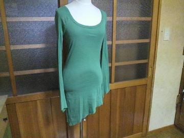 SLY/スライ変形 グリーン ロングTシャツ
