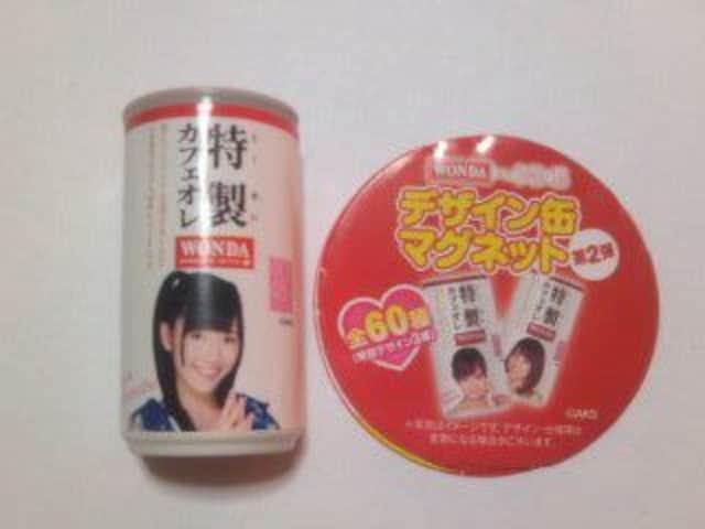 WONDAカフェオレ デザイン缶マグネット AKB48渡辺麻友 まゆゆ 未使用新品 < タレントグッズの