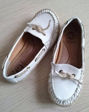 20cm★aprizm★ジュート★デッキシューズ★子供靴★美品
