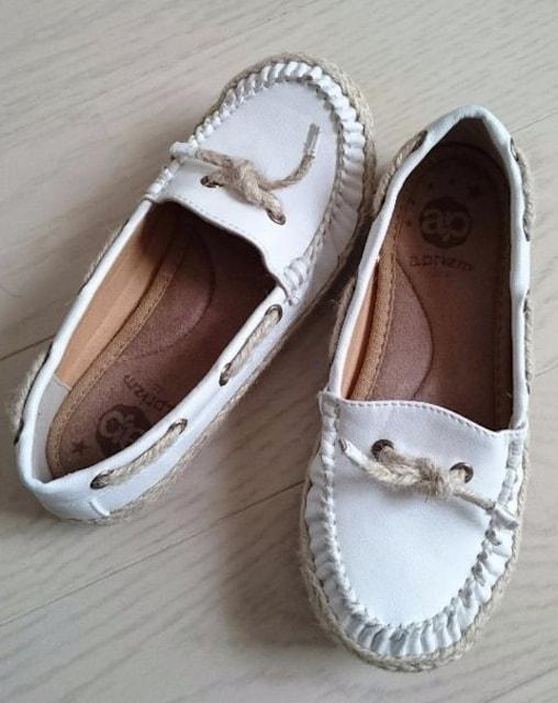 20cm★aprizm★ジュート★デッキシューズ★子供靴★美品  < キッズ/ベビーの