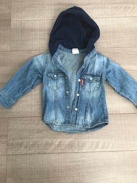 ジャンクストアー美品フード付ジャケット90デニム男女OK