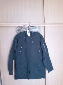 <送無>人気フェイクファー付きN3B(新品/完売品)NAVY/GU/ユニクロ