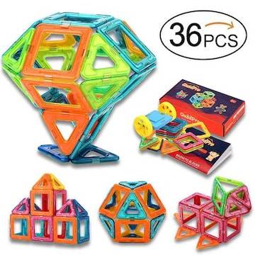 磁石ブロック 立体パズル 知育おもちゃ 36ピース