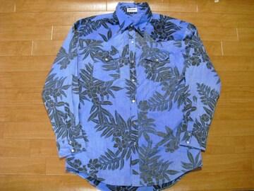 USA製 ハワイアン柄 ウエスタンシャツ USA-L