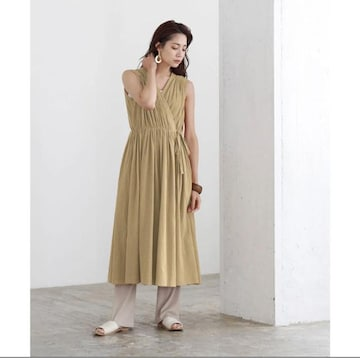 新品☆titivate(ティティベイト)カシュクールギャザーロングワンピース☆