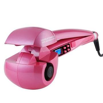 ヘアアイロン オートカール 海外対応(ピンク)