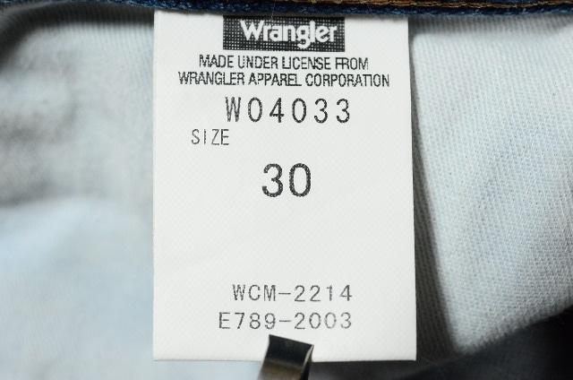 W30 ラングラーW04033 ストレートストーンウォッシュ < ブランドの