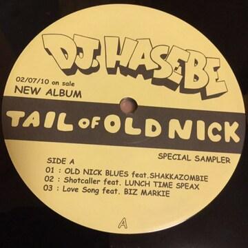 DJ Hasebe ランチタイムスピークス「Tail of Old Nick EP」非売12インチ アナログ